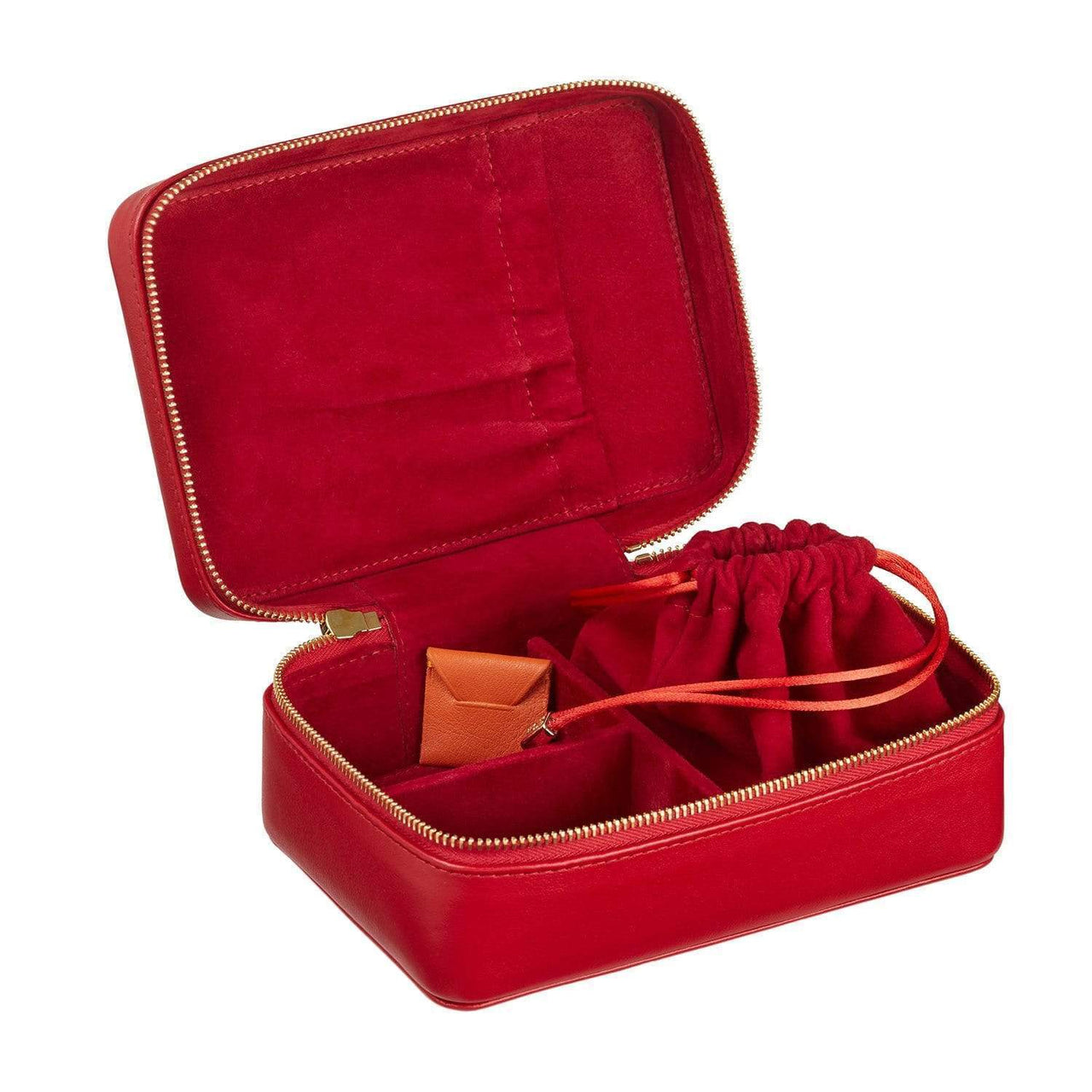 STOW Jewelry Cases Ridge Red / Blind Amelia Leather Jewellery Case - Personalized