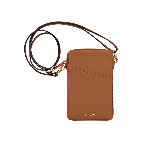 STOW Shoulder, Crossbody & Belt Bags Sahara Tan Crossbody Phone Case