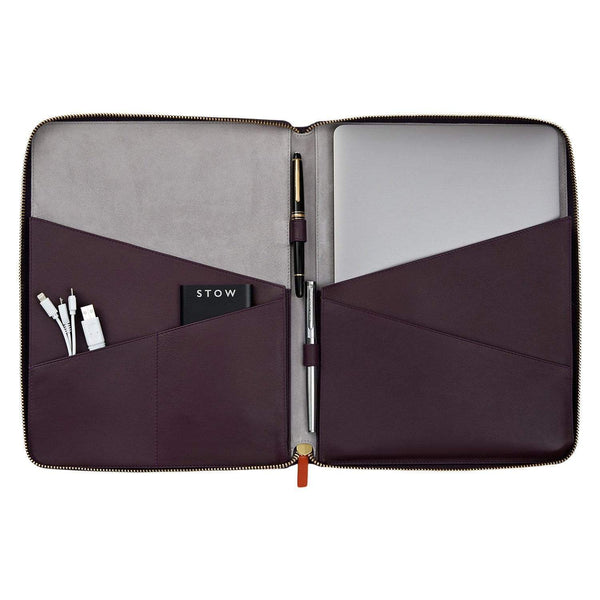 STOW Tablet Cases African Violet & Soft Sand / Black The Director Folio Leather Tech Case