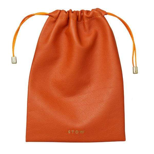 STOW Wallets, Pouches & Accessories Amber Orange Large Leather Accessories Pouch