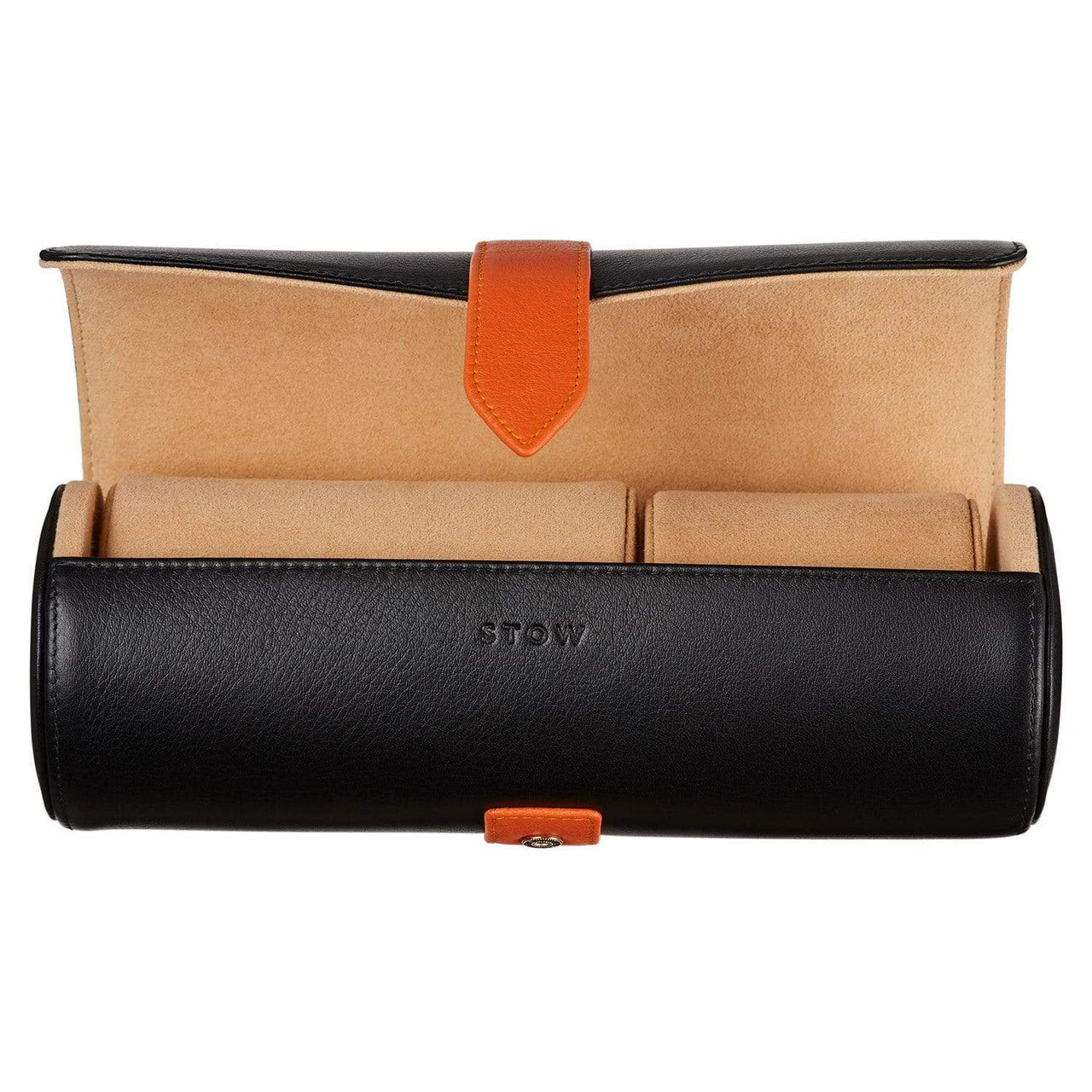 STOW Wallets, Pouches & Accessories Jet & Soft Sand Sanderson Leather Watch Roll
