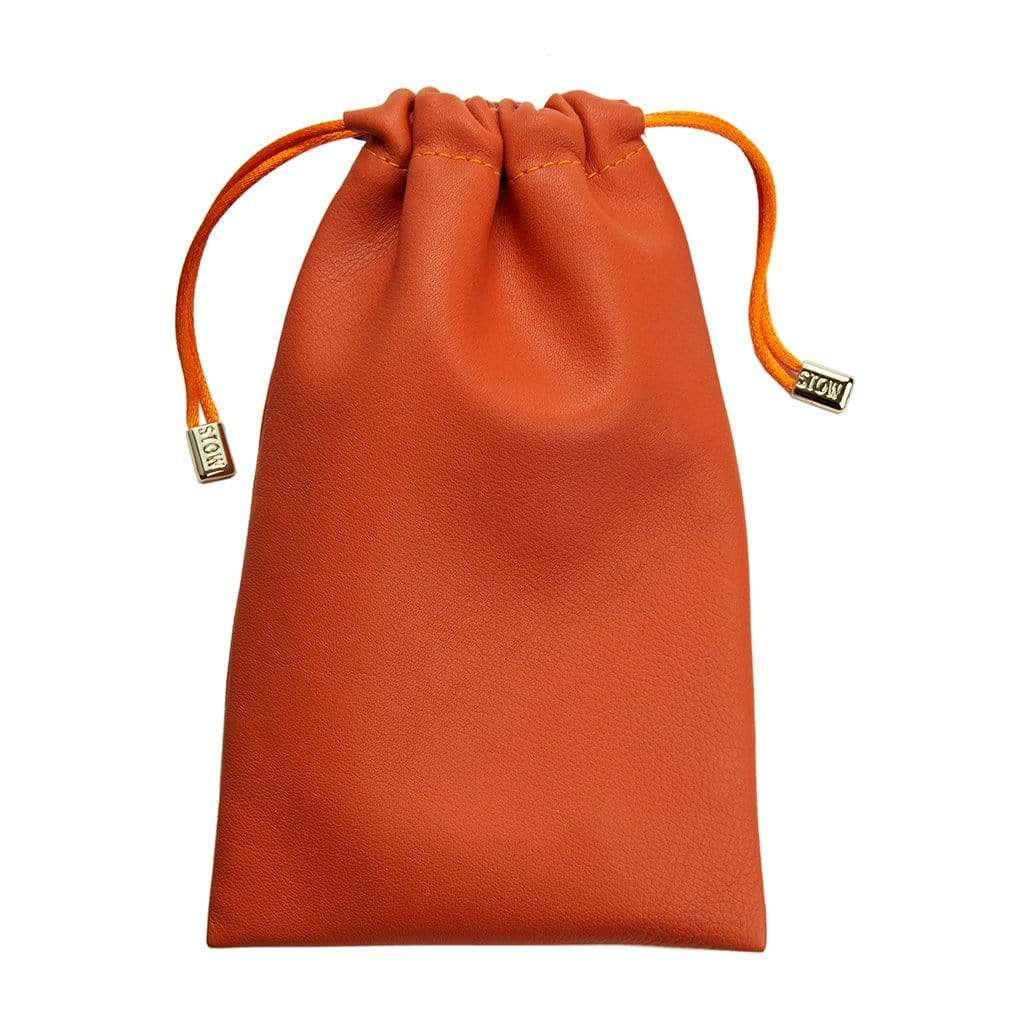 STOW Wallets, Pouches & Accessories Orange Leather Accessories Pouch