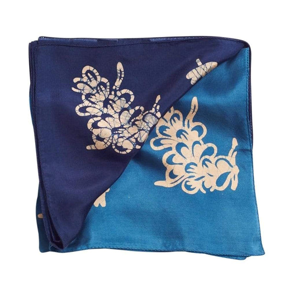 Studio Variously Scarves Oraa Indigo Silk Scarf