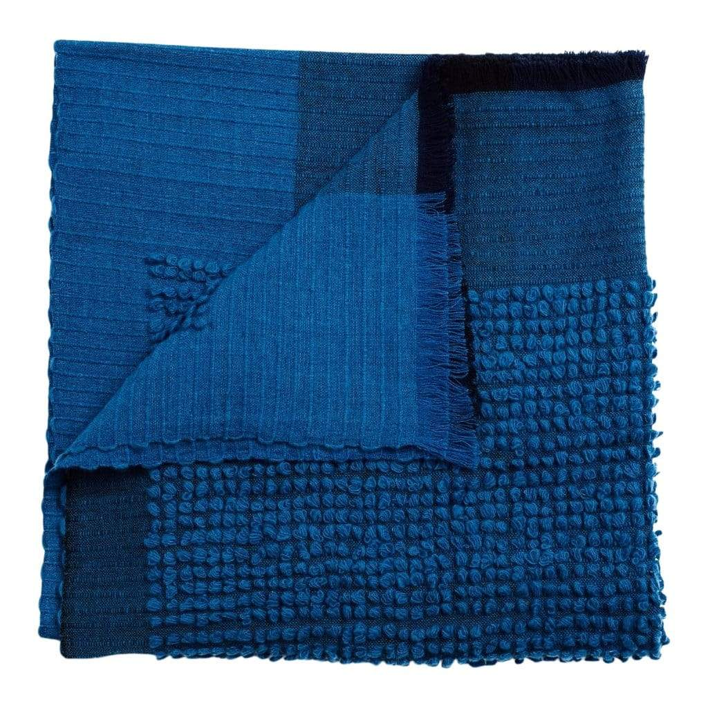 Studio Variously Throws & Blankets Macaroon Midnight Merino Throw