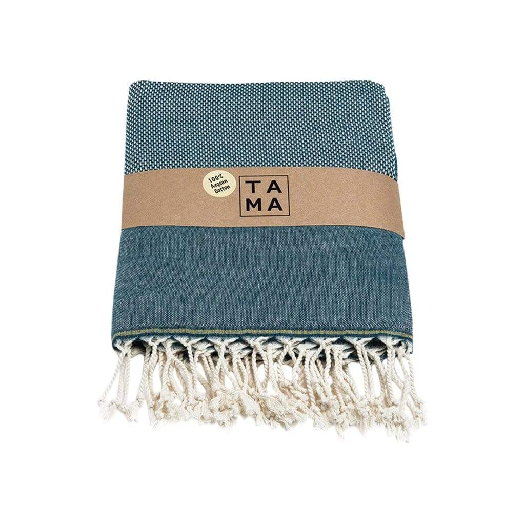 TAMA TOWELS Bath & Beach Bris Slate Blue Peshtemal