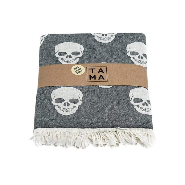 TAMA TOWELS Bath & Beach Skull Peshtemal