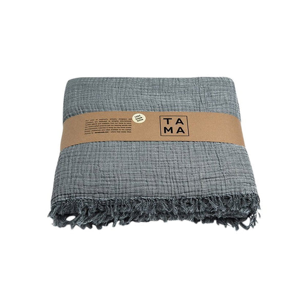 TAMA TOWELS Cushions & Throws Coco Dark Gray Bed Cover