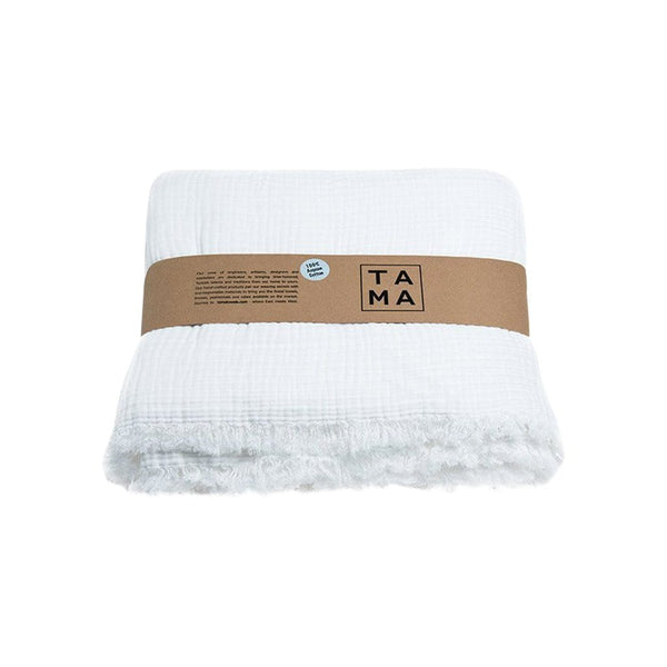 TAMA TOWELS Cushions & Throws Coco White Bed Cover