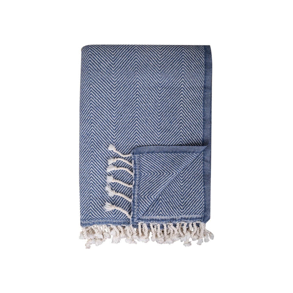 TAMA TOWELS Cushions & Throws Ophelia Denim Blue Throw