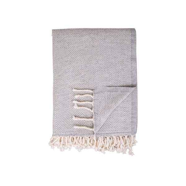 TAMA TOWELS Cushions & Throws Ophelia Gray Throw