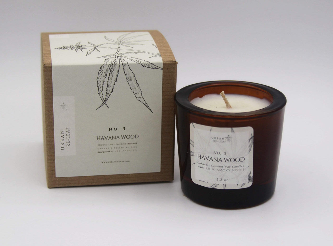 Urban Re-Leaf Candles & Diffusers 2.5 oz #3 Havana Wood Coconut Wax Candle