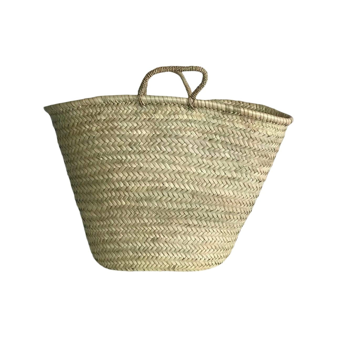 Verve Culture Baskets Vegan Palm Handle Moroccan Shopping Basket