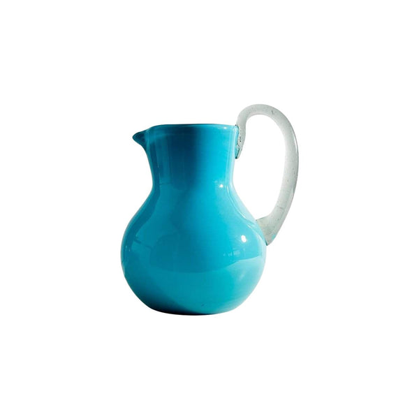 Verve Culture Kitchen Tools & Utensils Aqua Handblown Glass Pitcher