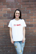Load image into Gallery viewer, Feminist Tee - White