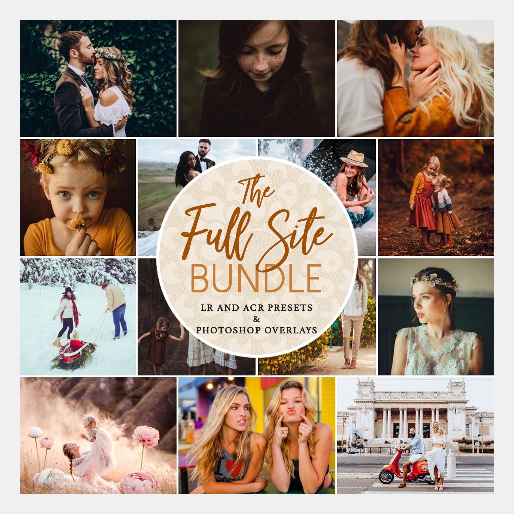 The Full Site Bundle - 40 LR/ACR Preset and PS Overlay Collections - Desktop & Mobile