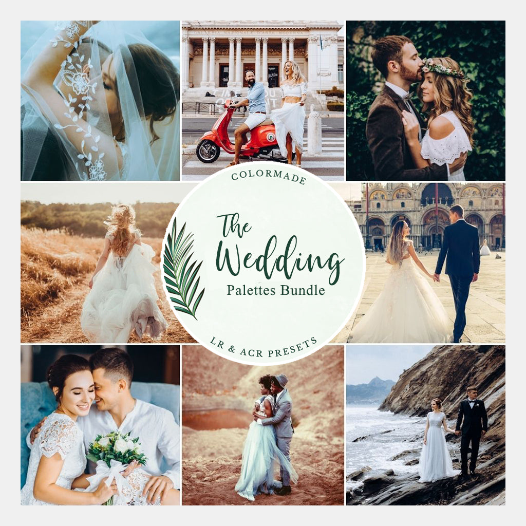 ColorMade Wedding Palettes Bundle - Lightroom/ACR Presets - Desktop & Mobile
