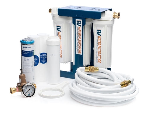 Essential System Water Filter + Iron Filter - Total Solution with Blue Cage