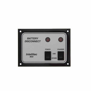 Intellitec 01-00066-006 OEM RV Battery Disconnect Panel - Dual Switch Fitment Silver & Black - AnyRvParts.com