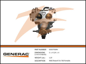 Generac 0E50770SRV NIKKI REWORK FOR 760 PORTABLE
