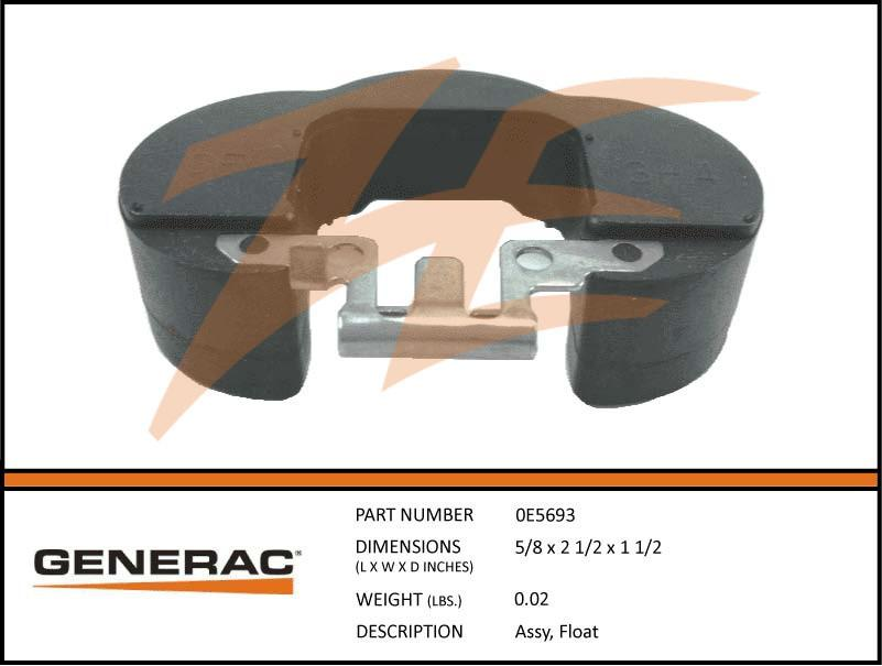 Generac 0E5693 Assembly  FLOAT