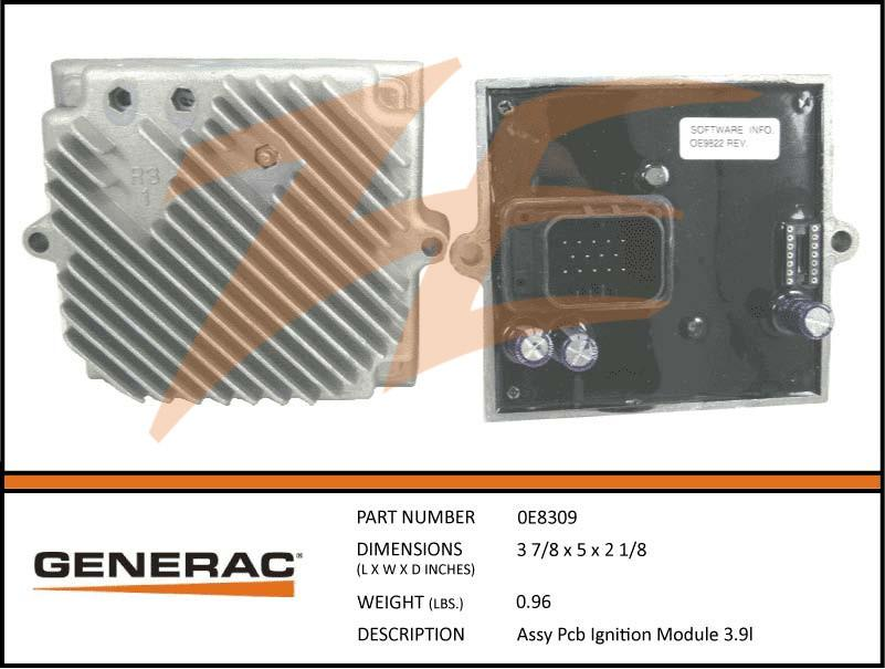 Generac 0E8309  Assembly  PCB Ignition Module 3.9L