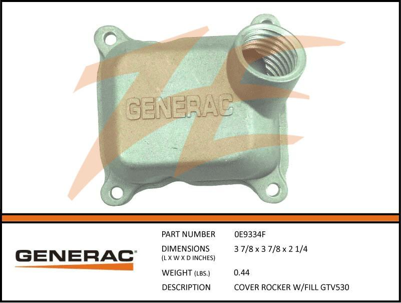 Generac 0E9334F Cover Rocker W/FILL GTV530