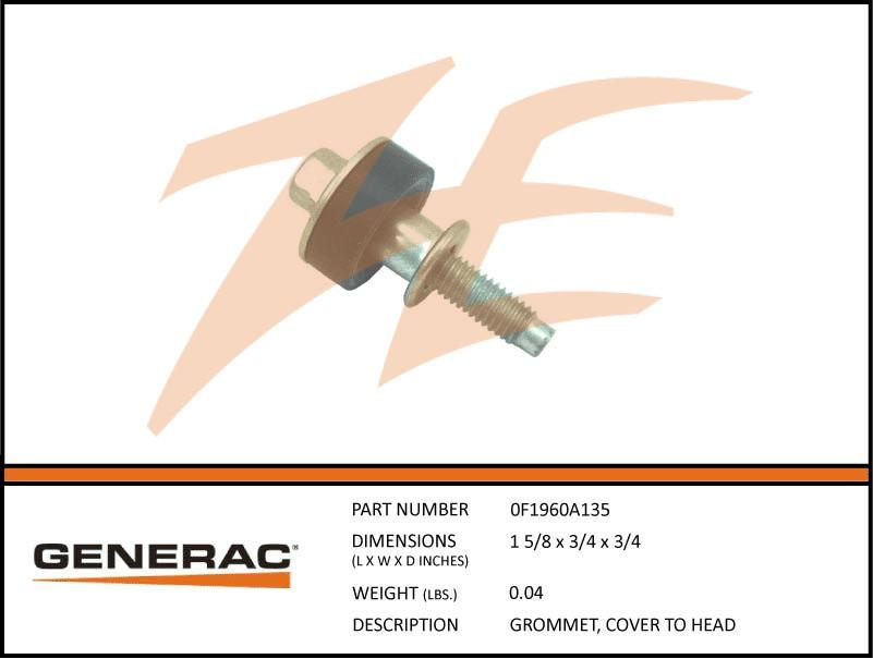 Generac 0F1960A135 Cover To Head Grommet