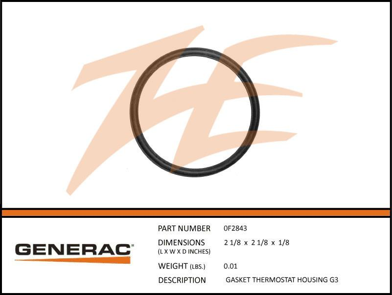 Generac 0F2843 Thermostat Housing Gasket G3