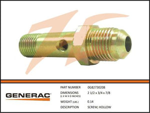Generac 0G82730208 Screw Hollow