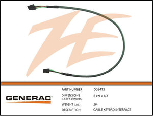 Generac 0G8412 Keypad Interface Cable