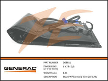 Generac 0G8851 Battery Warmer Blanket w/ Thermostat & Terminals 120V