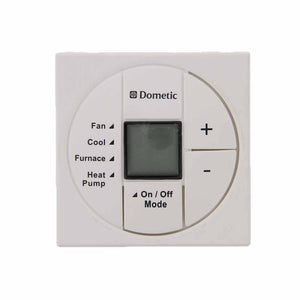 Dometic 3313193000 OEM RV White Single Zone LCD Thermostat Replacement Part Fan/ Cool/ Furnace/ Heat Pump - AnyRvParts.com