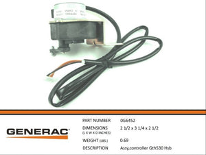 Generac 0G6452 STEPPER Assembly GTH530 HSB