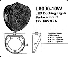 Schwalm L8000 OEM RV Surface-Mount Docking Light for Campers - Replacement Part - 12 Volts, 10 Watts, 0.9 Amperes