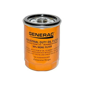 Generac 070185E OEM RV 90mm High Capacity Generator Oil Filter - Extends Engine Life, 30% More Filter Replaces 070185F