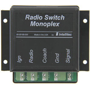 Intellitec 00-00189-000 OEM RV Radio Monoplex Switch - 15A - Single Wire Multi Point Switching - 10 to 16 VDC Operating Voltage - AnyRvParts.com