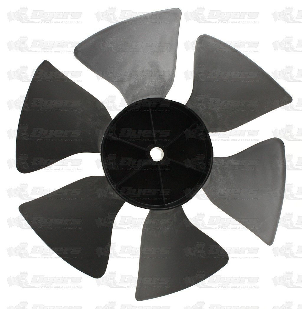 Dometic 3313107.015 OEM RV Brisk Air Black Air Conditioner Fan Blade - Perfect Fit D-Hole, Replacement Part - AnyRvParts.com
