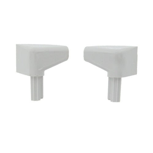 Fleetwood 518961/518962 OEM RV Rain Gutter Drip Rail End Caps - Right & Left Hand Set, Designed for Recreational Vehicles - AnyRvParts.com