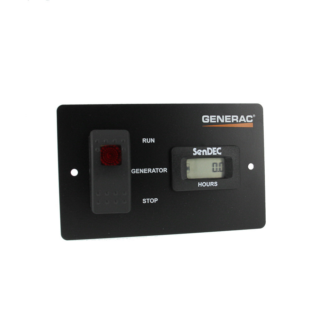 Generac 061440 OEM RV Generator Remote Panel with Hour Meter - One-Touch Start and Diagnostic Light indicator - 30' Harness - AnyRvParts.com