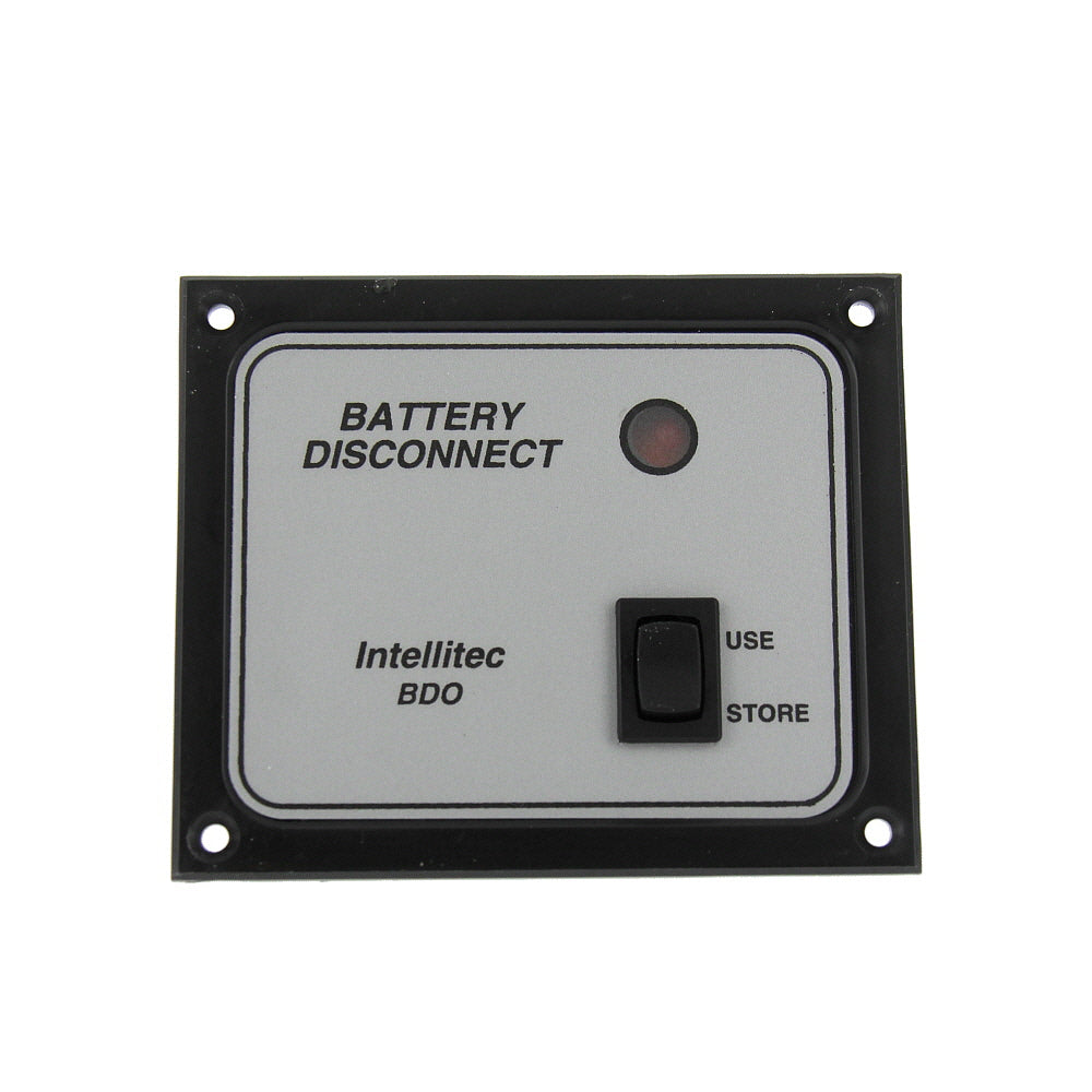 Intellitec 01-00066-004 OEM RV Single Battery Disconnect Panel Switch - Black Bezel/Silver Inlay - Replacement Part - AnyRvParts.com