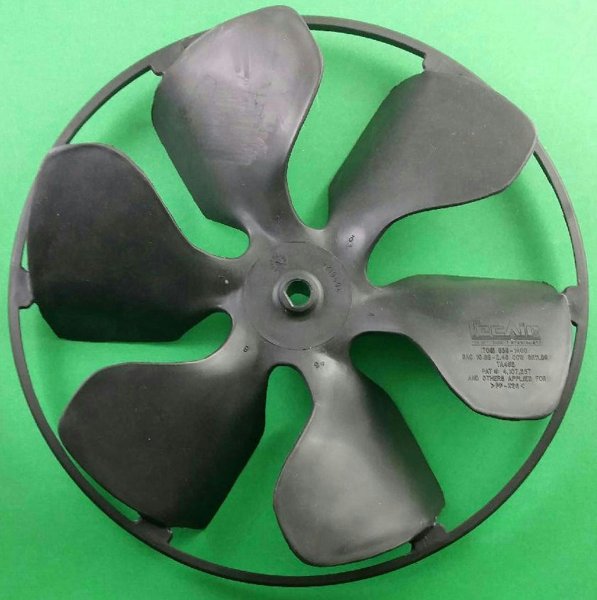 Dometic 3108704317 Duo Therm A/C Air Conditioner Fan Blade, 6 Blades with Ring TecAir Cool Cat - AnyRvParts.com