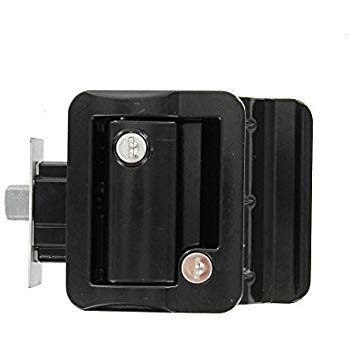 Weekend Warrior TDL-01-B OEM RV Entry Door Lock Handle Knob Kit - Includes Deadbolt and Keys, Industrial Grade - Black - AnyRvParts.com