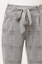 Load image into Gallery viewer, Plaid Tie Waist Pants