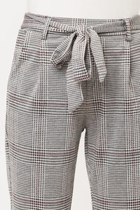 Plaid Tie Waist Pants