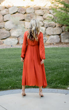 Load image into Gallery viewer, Burnt Orange Embroidered Dress