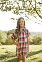 Load image into Gallery viewer, Plaid Navy and Pink Dress