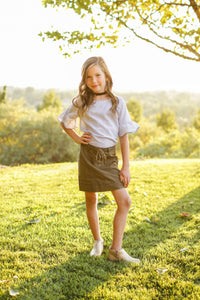 Army Lace up Skirt