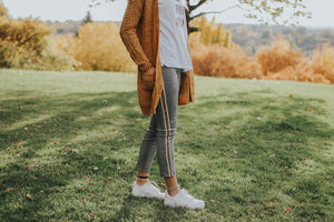Plaid Pants with Racer Stripe