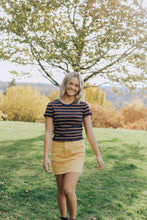 Load image into Gallery viewer, Ribbed Striped Crop Top