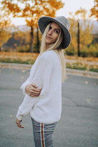 Brim Hat in Grey